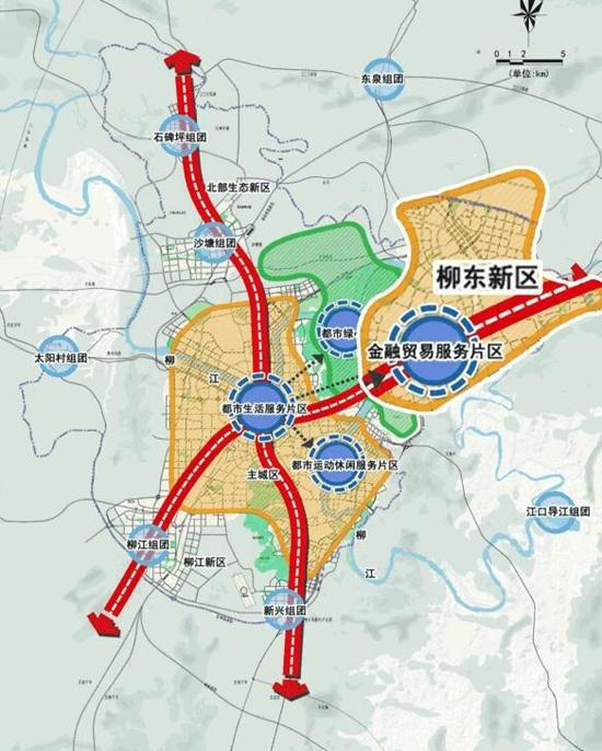 (柳州片区规划图)