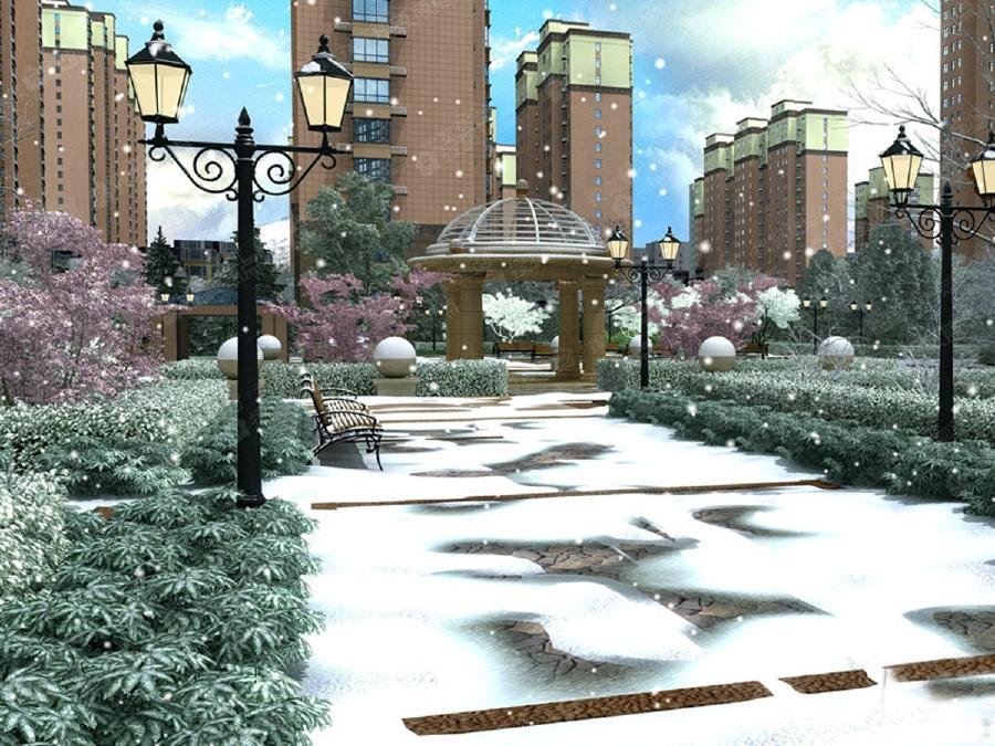 博纳龙域天城别墅_样板间_装修效果图水池坐北朝南图片设计图八卦图片