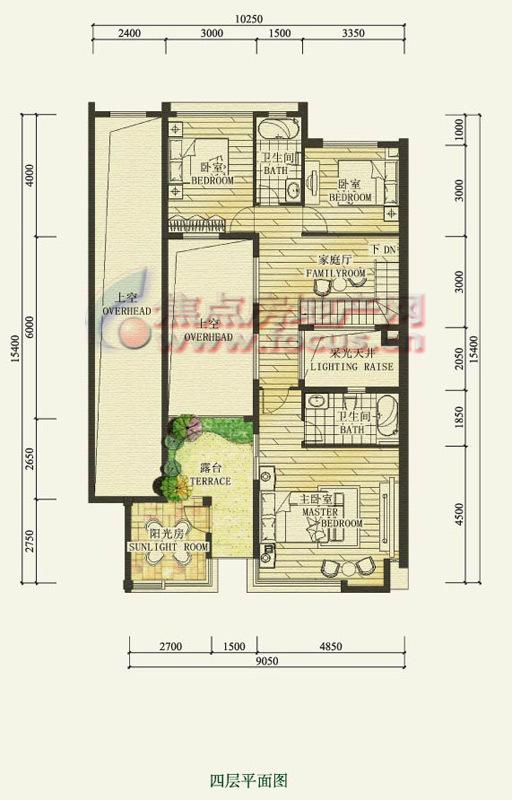 颐和南园九龙湖畔颐和南园a3(四层)_颐和南园户型图