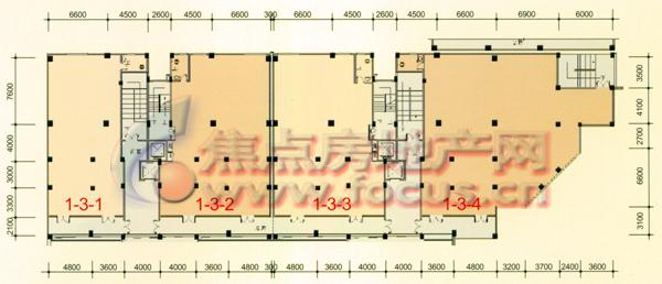 1栋商业用房三层平面图