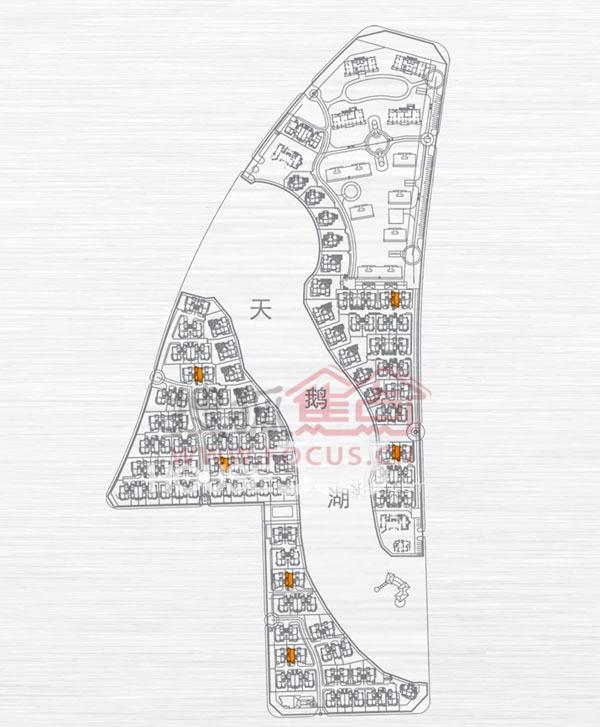 绿地内森庄园别墅 j户型 户型分布位置图_绿地内森图