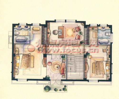 星海湾独立别墅三层户型