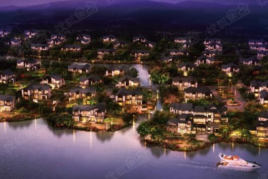 黄金水岸夜景效果图太湖黄金水岸夜景效果图在售待售售罄 独栋别墅 独