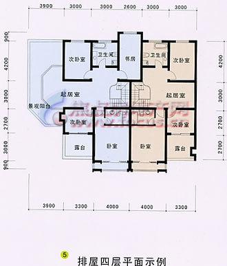 三江花园排屋4层平面图