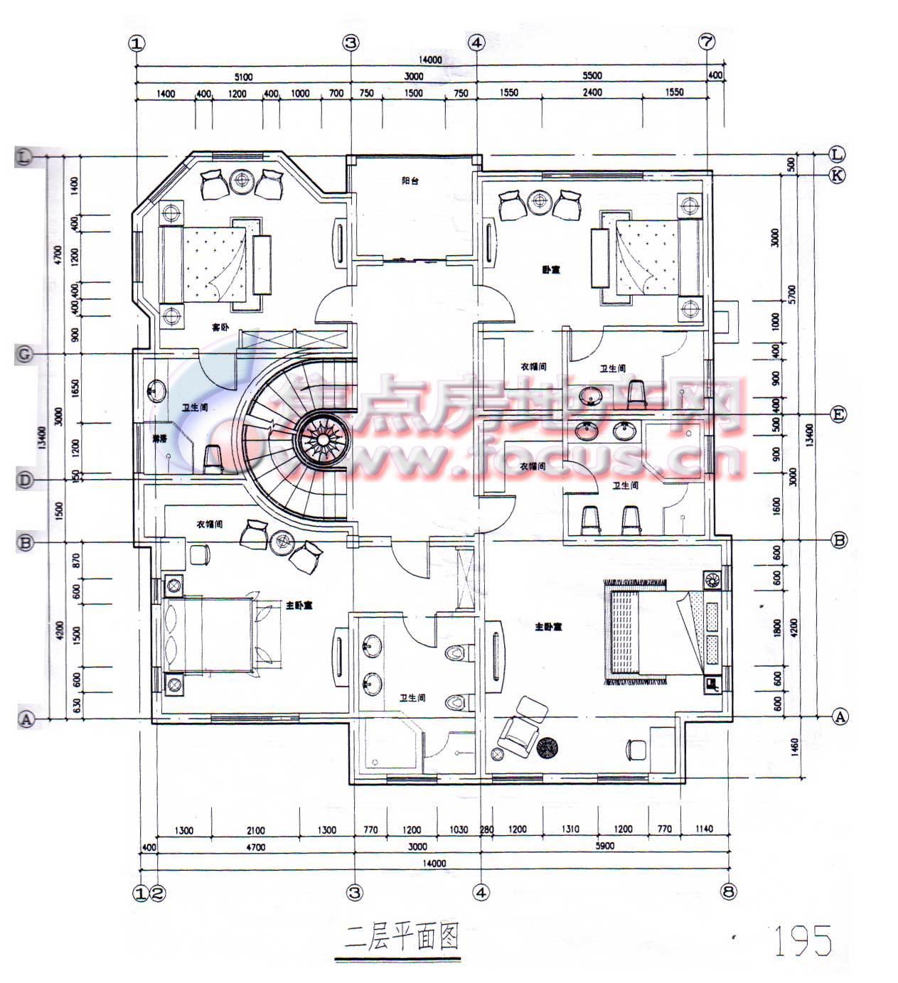 八仙别墅二层平面图