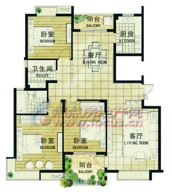 颐和南园九龙湖畔颐和南园a11_颐和南园户型图-南京