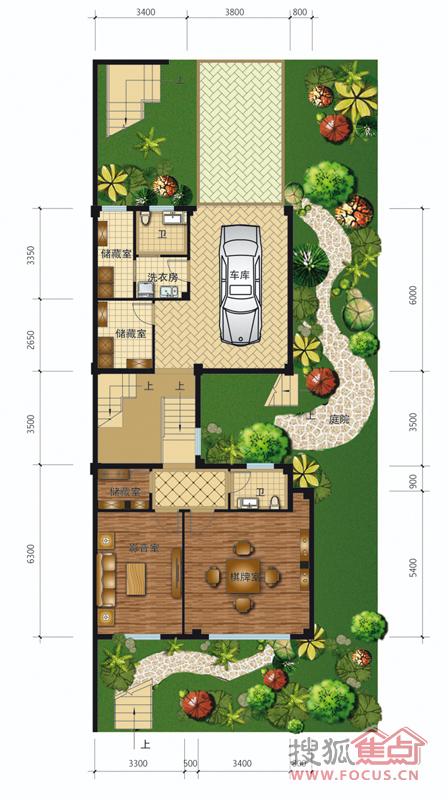 枫林半岛385㎡(地上275㎡,地下110㎡)排屋tc地下层_图