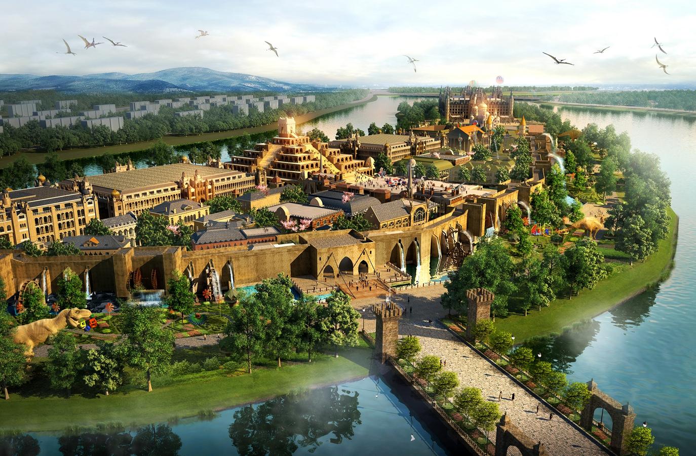 助力北戴河新区旅游新发展 —好莱坞魔法城项目举行开工奠基活动