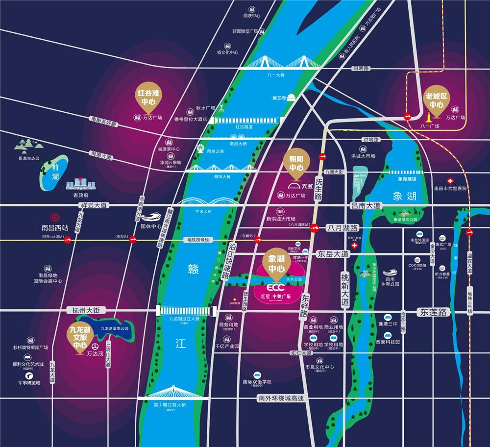 江西首座中央公园综合体,开启全球步行城市生活!