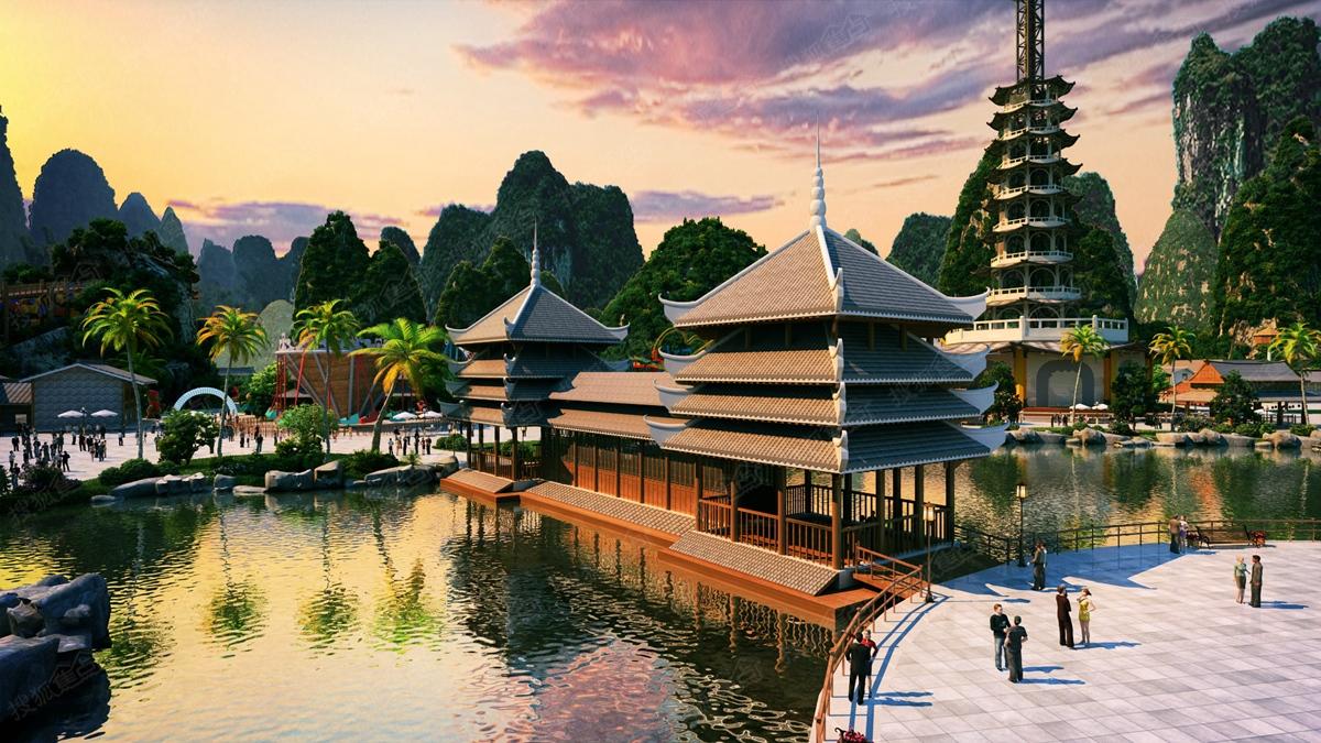 以新东方之美对话世界,桂林融创万达文旅城展示中心焕新绽放