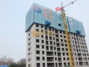 齐盛湖公园旁民泰龙廷贵府北区项目已盖到地上13-14层
