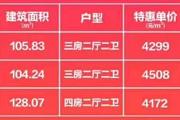 钦州阳光城翡丽湾,3套特价房感恩回馈,均价低至4172元/㎡