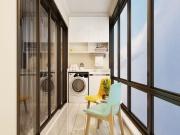碧水南湾项目C3户型108㎡三房装修效果图实景拍摄图赏析