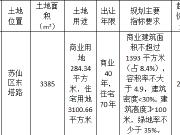 郴州土拍:苏仙区第一宗棚改地底价成交 楼面均价1688元/㎡