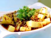 湘西纯手工的材火包谷(玉米)豆腐