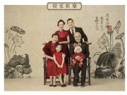 碧桂园天悦上千元工笔画全家福套装免费送!!仅限南通家纺人!