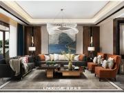 天山熙湖澜岸港式轻奢风格效果展示-领越·江凡空间设计