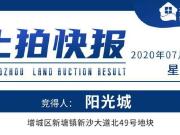 溢价率6.7%!阳光城首拿增城宅地,周边新房均价2万+/㎡