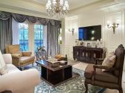 大连金地檀境134平三居室14万装修,奢华美式风格不要太耀眼