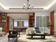 诺德名府别墅190平新中式风格,凝练仙骨灵韵,自成一派清流!