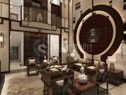 金茂逸墅650平别墅新中式风格设计方案!
