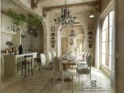 东桥郡别墅设计,美式风格装修设计,重庆进化美业