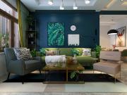 哈尔滨华润装饰 爱达壹号B1户型两室两厅61㎡北欧风格效果图