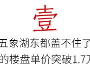 """房价冲破1.7万+!五象湖东今年太""""串""""了"""