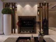 盘锦巴塞罗那270平一带二现代风格装修案例装修效果图