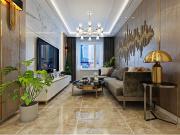 华润装饰-观澜居实测57㎡2室2厅1卫现代奢华D7户型