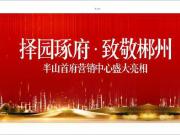 以诚筑未来 与城市共生长 东立精诚品质 已来到郴州