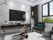 黄金山水郡三室两厅现代中式风格装修效果图