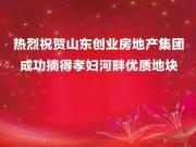 """山东创业房地产集团""""悦湖花园""""项目土地成功摘牌"""