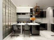 60平米金德园现代简约风格装修效果图,注重居住体验