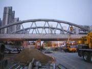 秦皇岛和平大街铁路桥施工最新进展 桥支架已经拆除