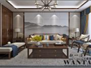 济宁设计师:金乡住建佳苑150平新中式装修设计样板间