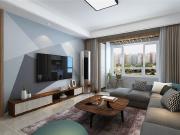 国熙台现代风格三室两厅装修效果图