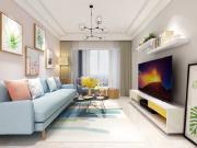 125㎡三室两厅北欧风格效果图,巧用颜色搭配,充满少女心!