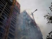 西宁城北恒利大厦所有楼栋主体结构全线荣耀封顶!