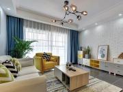 120平色彩轻快舒适北欧装修,玄关和卫生间的花砖都很吸睛呢