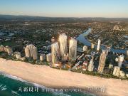 澳大利亚万达珠宝三塔:天然水晶般建筑犹如耀眼的灯塔