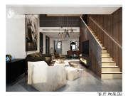 180平米现代风格装修设计,新派简约低调与内敛