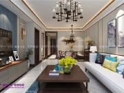 巴黎花园120平三室两厅新中式风格装修