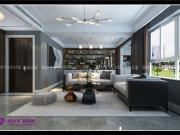 财富壹号145平四室两厅现代轻奢风格装修