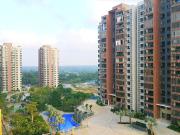 义方家园项目园林绿化水系及配套高层俯瞰实景拍摄图