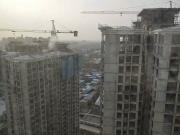 卓建水岸进程:9#楼、10#楼主体已封顶