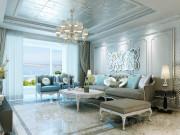 169平法式风格珠江道12号三室装修,珠光贵雅且配色华丽