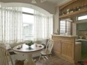 大连枫丹丽城115平装修的自然小情调,美式田园风格悠扬且舒畅