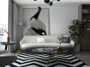 阳光100两室两厅现代风格装修效果图