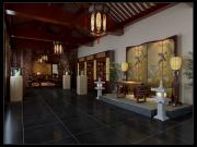 富有东方浪漫生活情调中式别墅设计